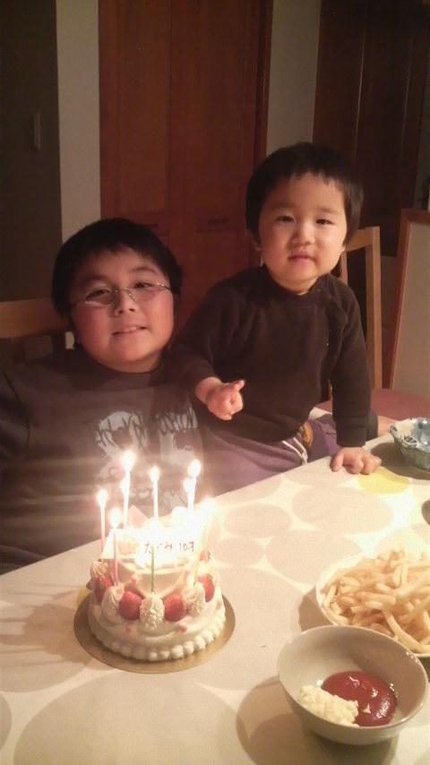 たっくんの誕生日。